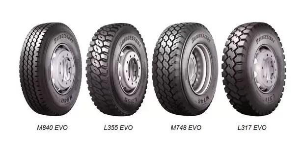 Novos Pneus Bridgestone Evo para veiculos pesados