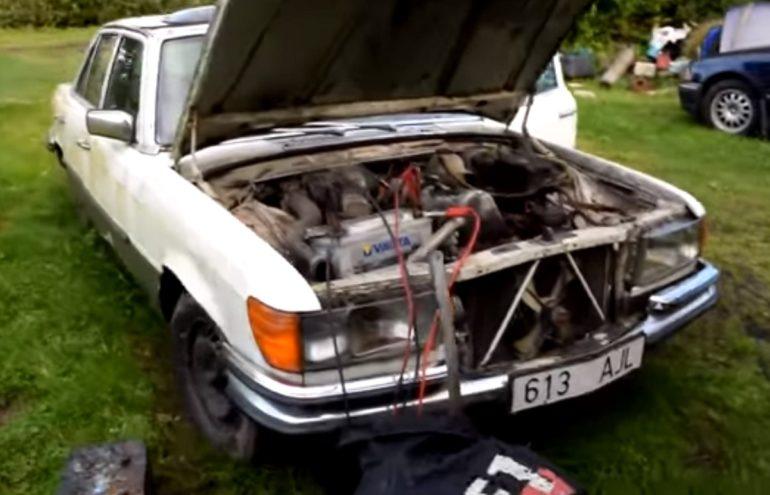 Video: Mercedes-Benz W116 upalio nakon devet godina stajanja