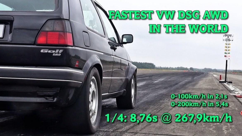 Nevjerojatan Volkswagen Golf II ubrzava do 300 km/h za 8 s