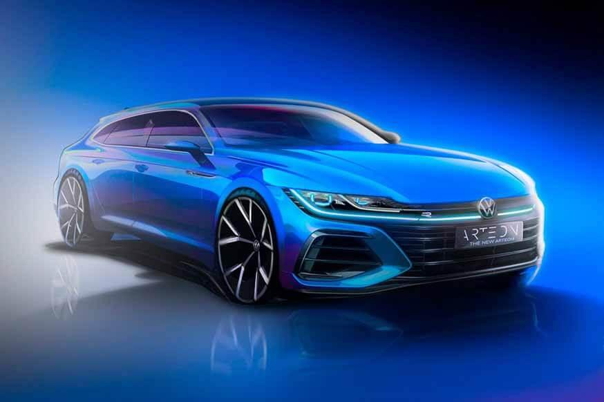 Volkswagen продолжает играть интригу: эскиз обновленного лифтбека и универсала Arteon
