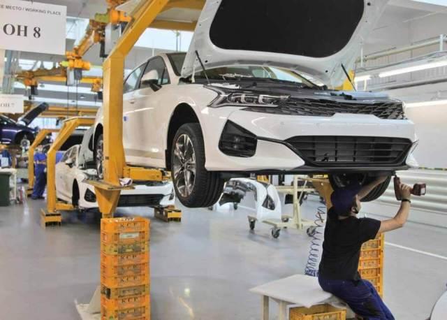 Производство Kia K5 на Автотор