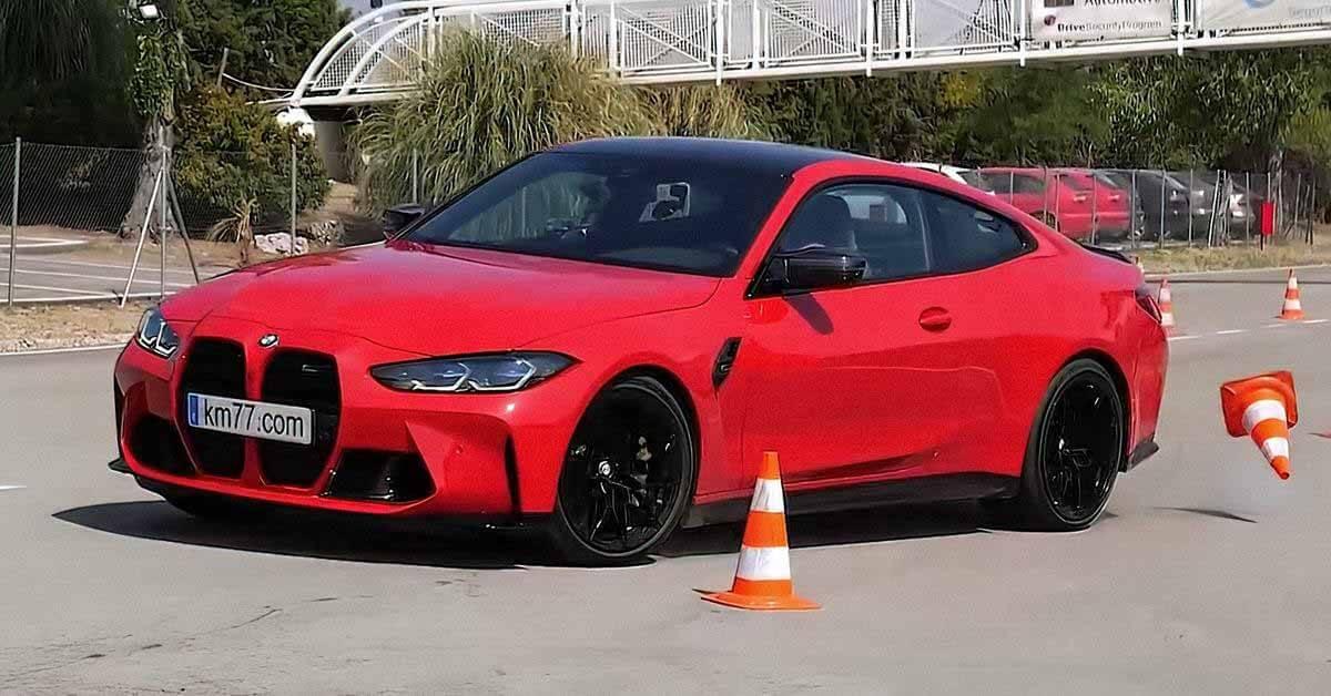 Посмотрите, как буксирует BMW M4 во время «лосиного теста».