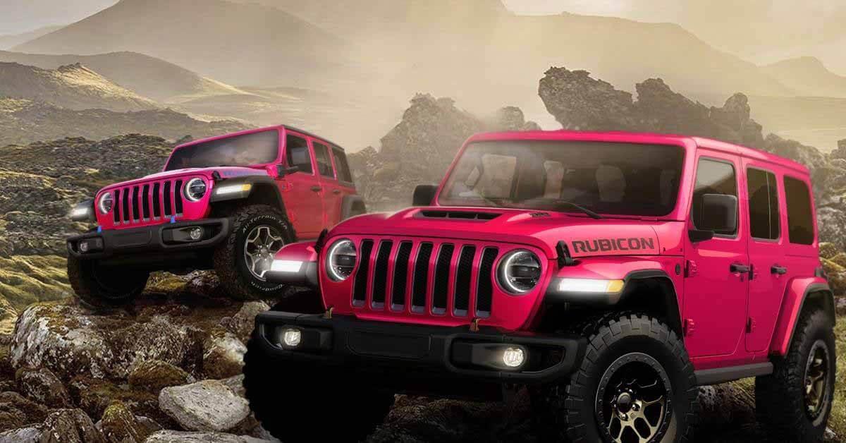 Jeep Wrangler покрашен в розовый цвет - Мотор