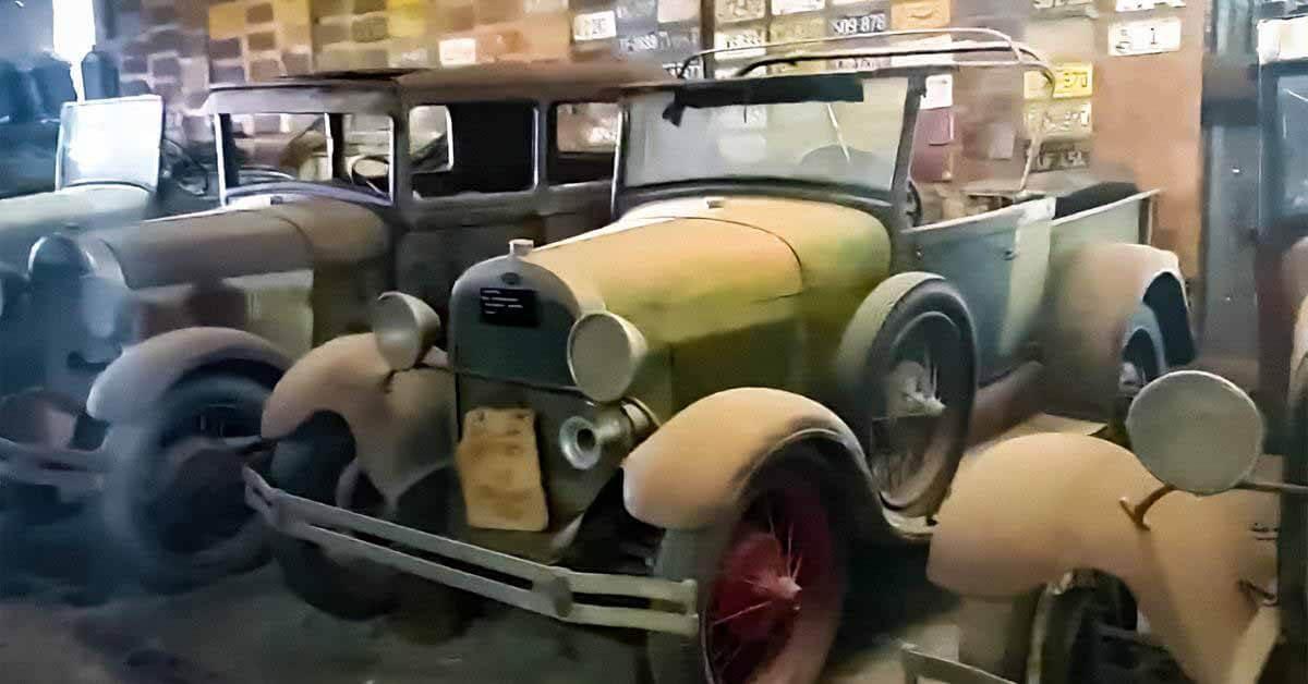 самая большая коллекция 100-летних Фордов из заброшенного сарая - Motor
