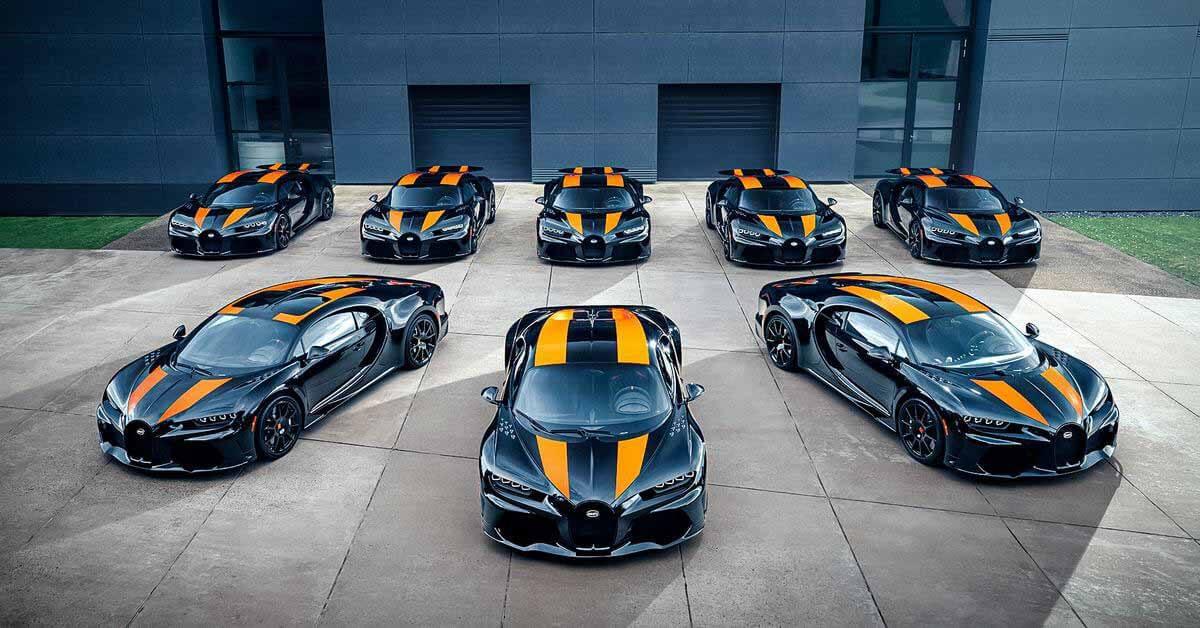 Посмотрите на первые восемь собранных Bugatti Chiron Super Sport 300+ - Мотор