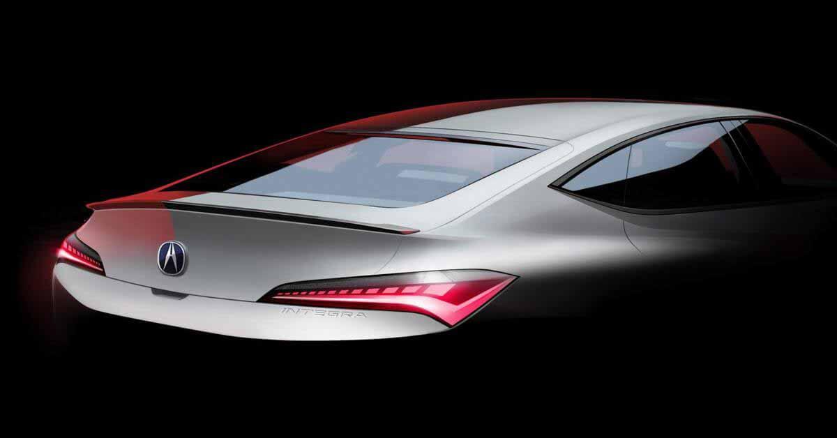 Acura раскрывает дизайн возрожденной Integra: новое изображение - Motor