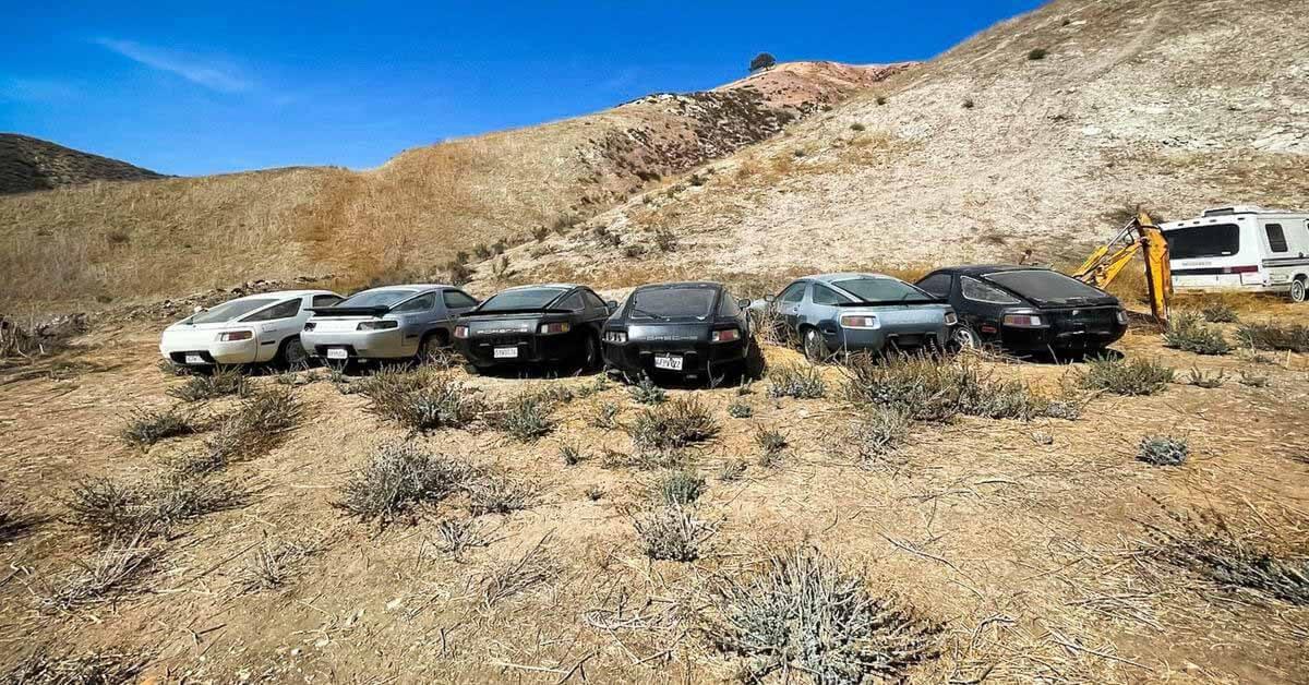 Посмотрите на кладбище забытых Porsche, ржавых под калифорнийским солнцем - Motor