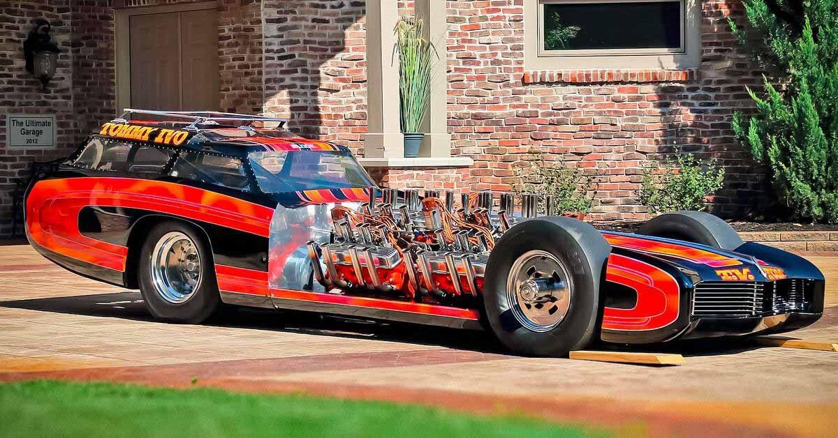 Посмотрите уникальный одноместный хотрод Buick с четырьмя двигателями V8 - Motor
