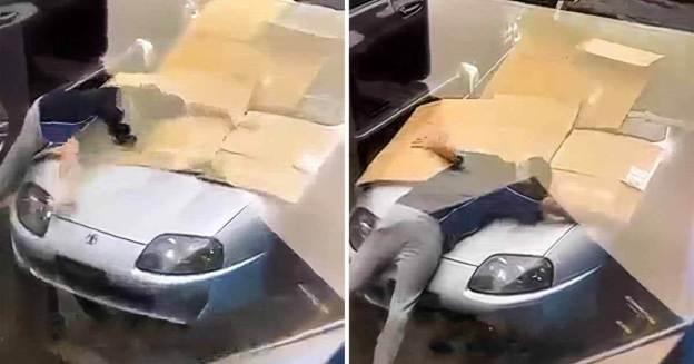 Владелец Toyota Supra своим кузовом защитил спорткар от града - Motor