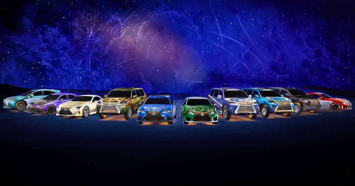 Автомобили Lexus примерили костюмы персонажей фильма «Вечные» - Motor