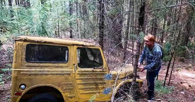 спасение редкого Suzuki Jimny из горного плена, в котором внедорожник провел полвека - Motor