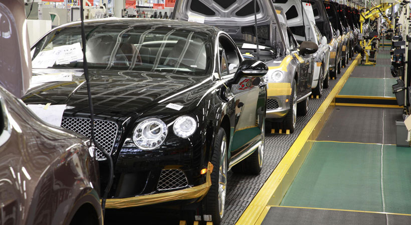 La planta de Bentley en Crewe