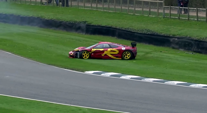 McLaren F1 GTR accidente