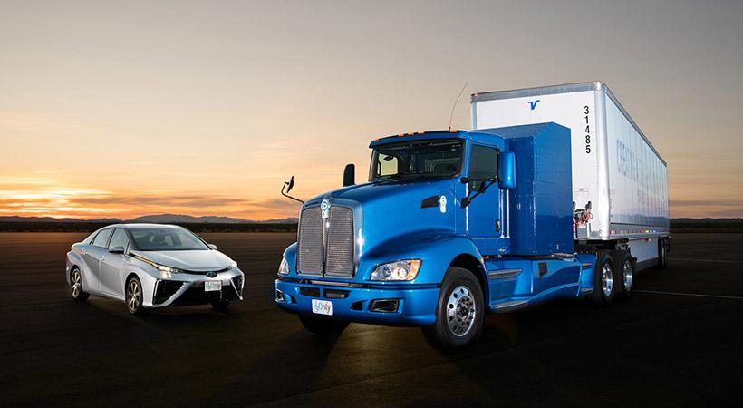 Toyota camión con pila de combustible