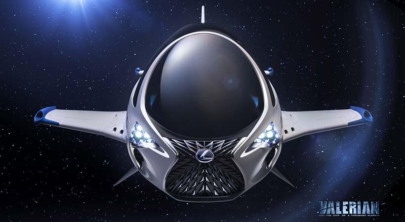 Lexus Skyjet en Valerian a la conquista del espacio