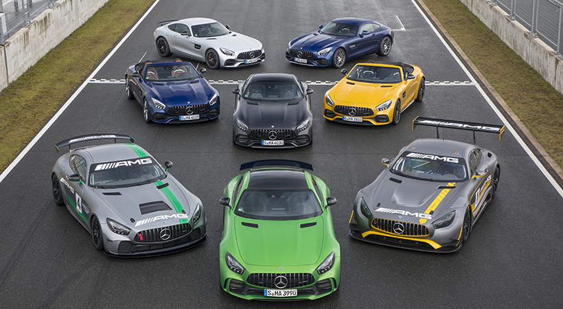 Test Drive Mercedes-AMG GT Family 2018
