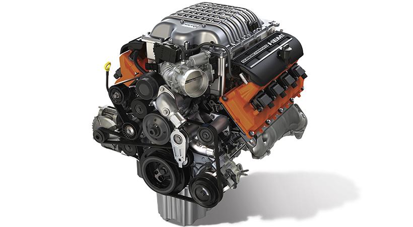 Motor HEMI Hellcrate de 707 caballos listo para tu auto