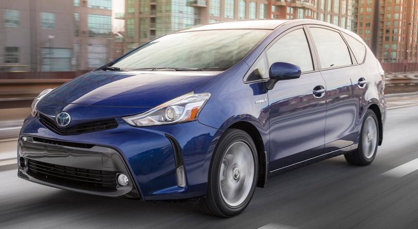 Autos que gastan menos combustible: Toyota Prius V
