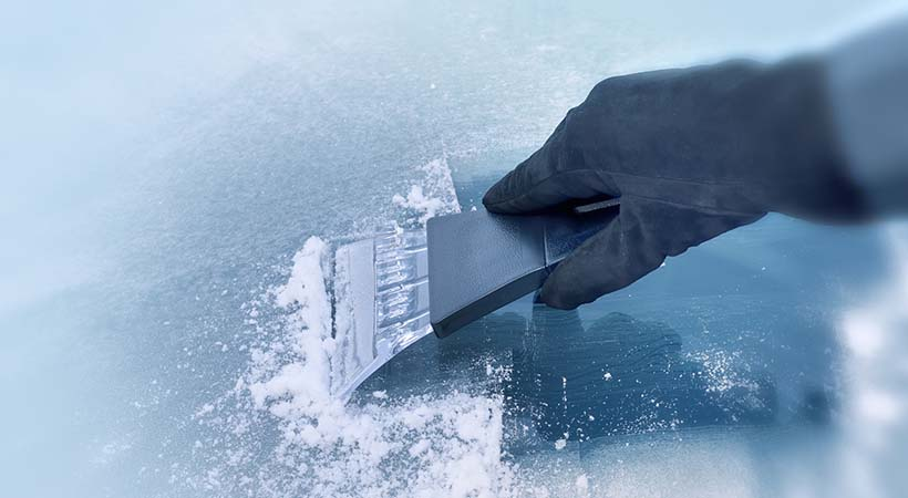 Parabrisas congelado