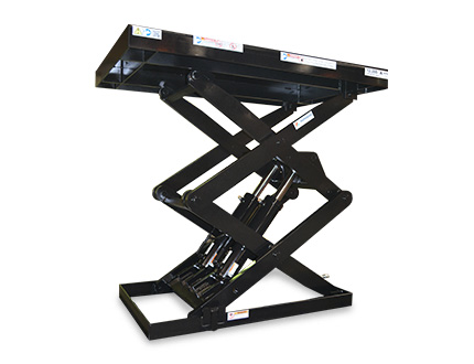 black double pantograph lifts