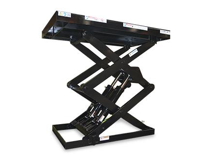 black double pantograph lifts