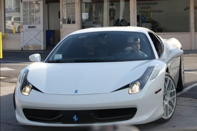 Justin Bieber Ferrari 458