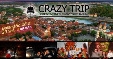 Pramoginės automobilių orientacinės varžybos Kaune CRAZY TRIP jau 2017 m. Balandžio 28 d.
