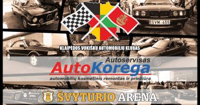 """Klaipėdos vokiškų automobilių klubas Grand meet """"Švyturio arena"""""""