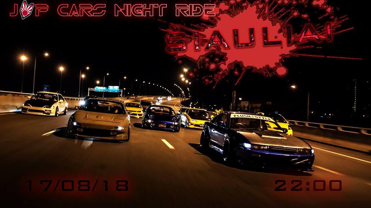 JAP Cars Night Ride Šiauliai