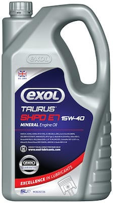 By popular demand! Exol's 15W-40 now available in 5-litres