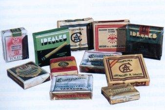Distintas marcas de cigarrillos elaboradas en la fábrica de tabacos de Cádiz.