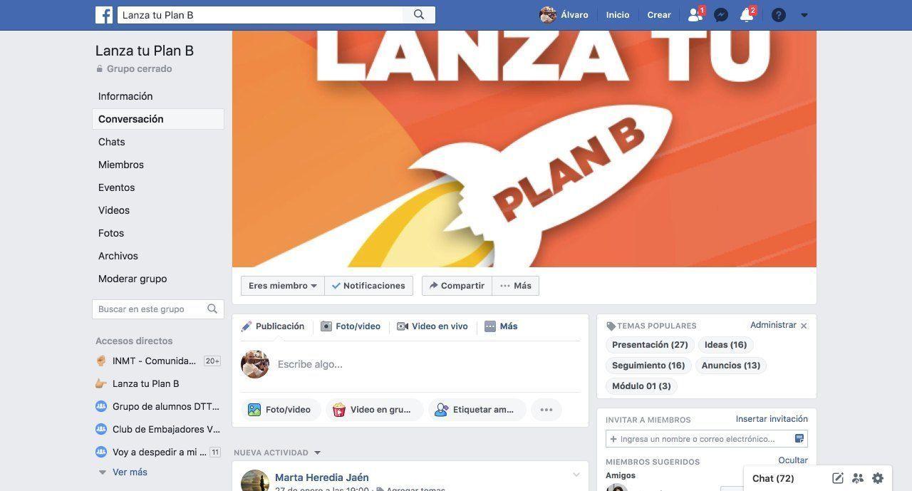 Comunidad LTPB en Facebook