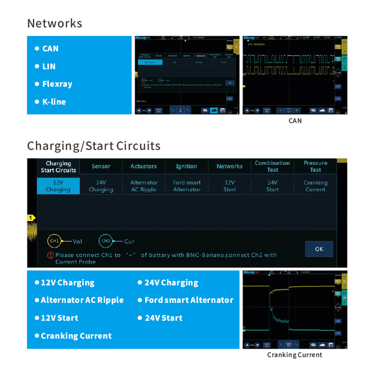 Tests Networks & Charging Start Circuits