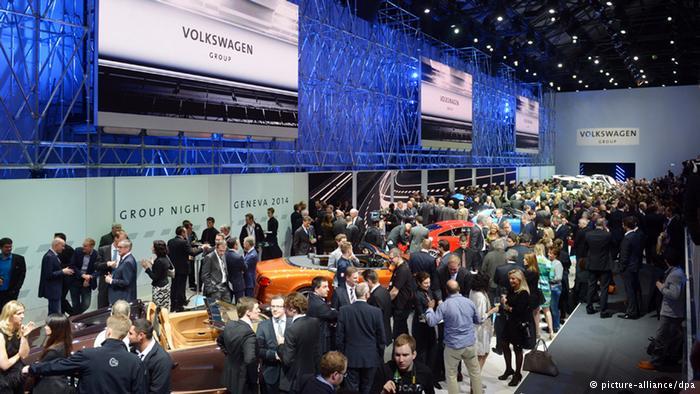 Женевский автосалон, 2014 год. Зал Volkswagen
