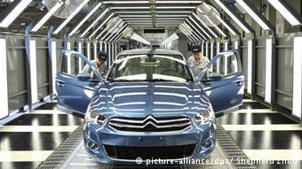 Выпуск автомобилей Citroen на заводе комапнии Dongfeng в Китае