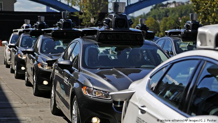 Самоуправляемые такси фирмы Uber в Питтсбурге