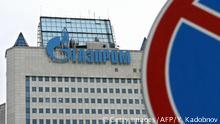Russland Zentrale von Gazprom in Moskau