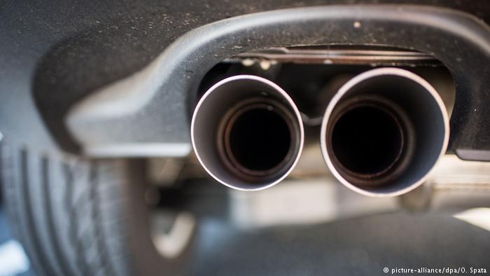 Выхлопная труба автомобиля VW Tiguan