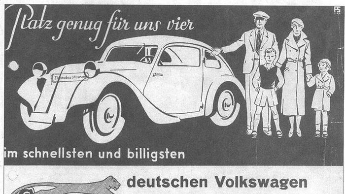 Реклама народного автомобиля, 1933 г.