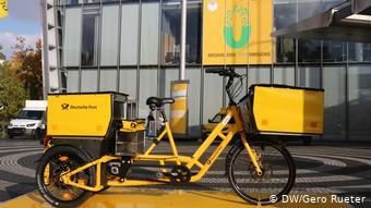 Трехколесный электрический велосипед немецкой почты