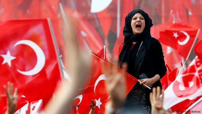 Демонстрация в поддержку Эрдогана, апрель 2017 года