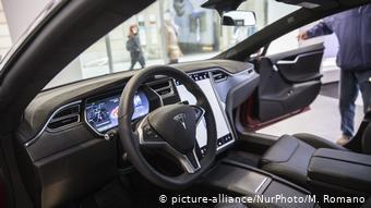 Салон автомобиля Tesla Model S