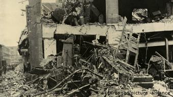 Айзенахский автомобильный завод после бомбардировки (1945 год)