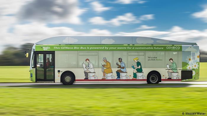 Bio-Bus in Bristol Großbritannien EINSCHRÄNKUNG