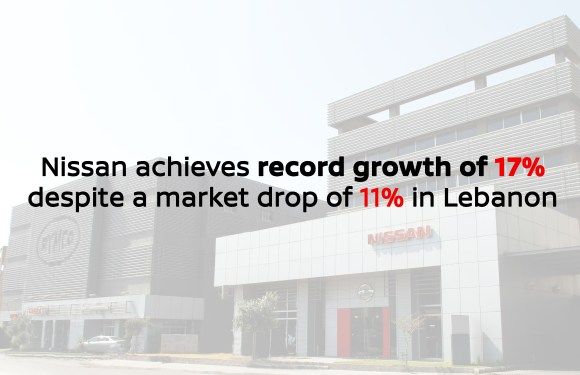 Nissan Achieves record growth of 17% despite market drop of 11% in Lebanon