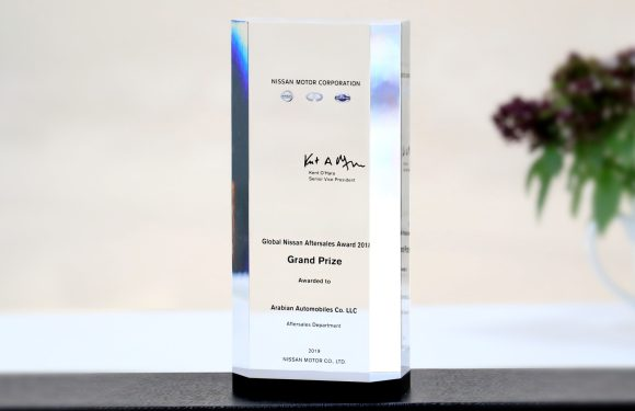 Arabian Automobiles wins the Global Nissan After sales Award