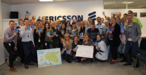 Работники завода Ericsson получили парковочные часы.