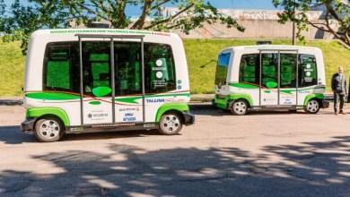 """Беспилотные """"автобусы"""" из Франции прибыли в Эстонию."""