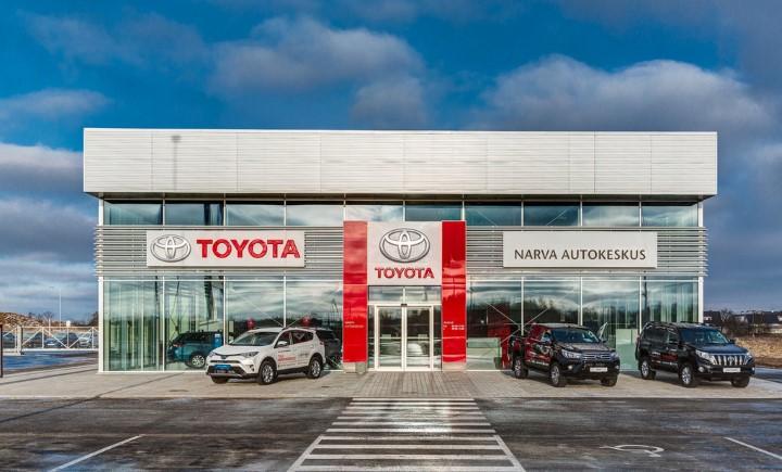 Автосалон Toyota в городе Нарва.