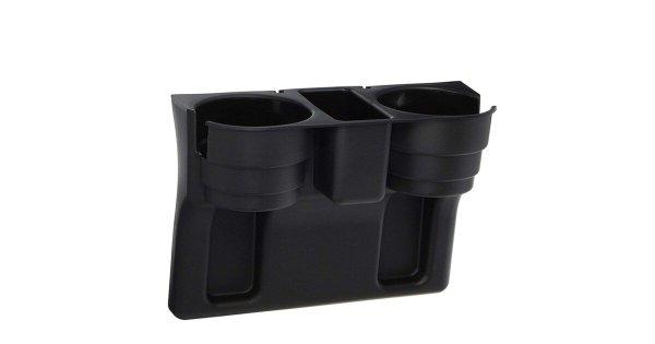 Decopatent® Autostoel Organizer - Voor tussen Auto stoel / console - Bekerhouder & Telefoonhouder - Opbergvakken - Auto organiser